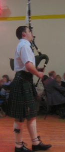 Jonathon MacDonald piping a wee tune